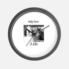 Help Save A Pets Life Wall Clock