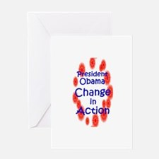 President Obama Change in Act Greeting Card
