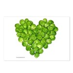 Brussel Sprouts Heart Postcards (Package of 8)