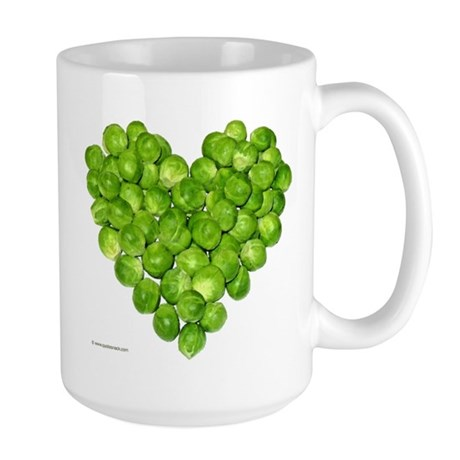 Brussel Sprouts Heart Large Mug