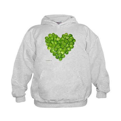 Brussel Sprouts Heart Kids Hoodie