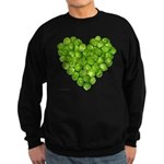 Brussel Sprouts Heart Sweatshirt (dark)