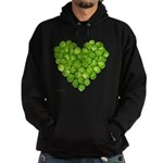 Brussel Sprouts Heart Hoodie (dark)