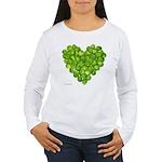 Brussel Sprouts Heart Women's Long Sleeve T-Shirt