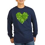 Brussel Sprouts Heart Long Sleeve Dark T-Shirt