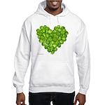 Brussel Sprouts Heart Hooded Sweatshirt