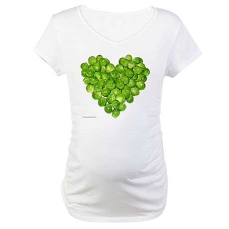 Brussel Sprouts Heart Maternity T-Shirt