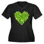 Brussel Sprouts Heart Women's Plus Size V-Neck Dar