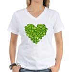 Brussel Sprouts Heart Women's V-Neck T-Shirt
