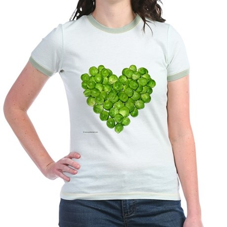 Brussel Sprouts Heart Jr. Ringer T-Shirt