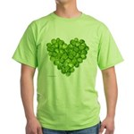 Brussel Sprouts Heart Green T-Shirt