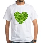 Brussel Sprouts Heart White T-Shirt