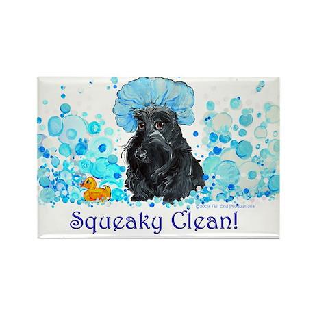 Scottish Terrier Bubble Bath Rectangle Magnet