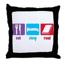 Eat Sleep Read Throw Pillow