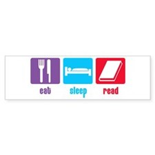 Eat Sleep Read Bumper Bumper Sticker