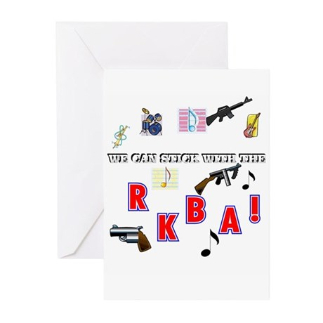 WE CAN STICK WITH THE--R.K.B.A.! Greeting Cards (P