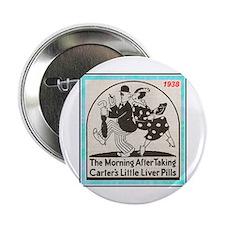"""1938 Liver Pills Ad"" 2.25"" Button"