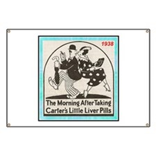 """1938 Liver Pills Ad"" Banner"