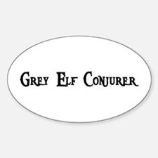 Grey Elf Conjurer Oval Decal