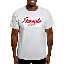 Toronto Ontario 647 area code Ash Grey T-Shirt