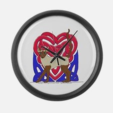 Siamese Heart Knot Large Wall Clock