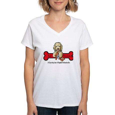 Goldendoodle Logo Women's V-Neck T-Shirt