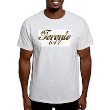 Toronto 647 area code Ash Grey T-Shirt