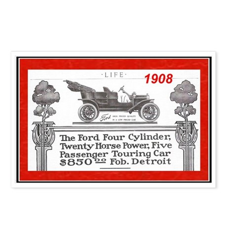 """""""Model T Ad"""" Postcards (Package of 8)"""