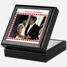 Obamas at the Inaugural Ball Keepsake Box