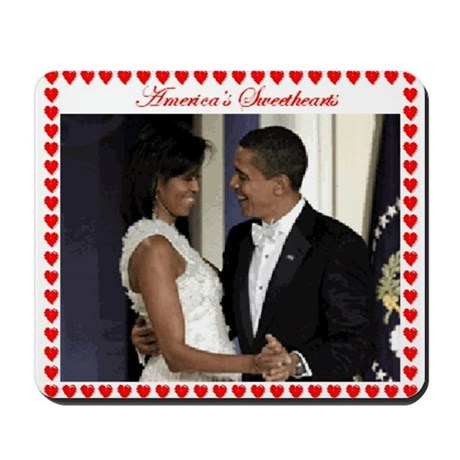 Obamas at the Inaugural Ball Mousepad