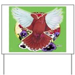 Flight Pigeon and Flowers Yard Sign