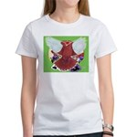 Flight Pigeon and Flowers Women's T-Shirt