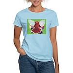 Flight Pigeon and Flowers Women's Light T-Shirt