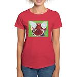 Flight Pigeon and Flowers Women's Dark T-Shirt