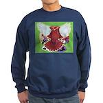 Flight Pigeon and Flowers Sweatshirt (dark)