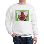 Flight Pigeon and Flowers Sweatshirt