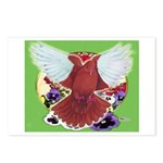 Flight Pigeon and Flowers Postcards (Package of 8)