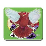 Flight Pigeon and Flowers Mousepad