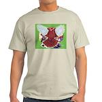 Flight Pigeon and Flowers Light T-Shirt