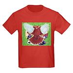 Flight Pigeon and Flowers Kids Dark T-Shirt