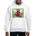 Flight Pigeon and Flowers Hooded Sweatshirt