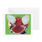 Flight Pigeon and Flowers Greeting Cards (Pk of 10