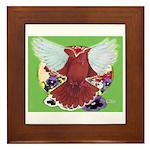 Flight Pigeon and Flowers Framed Tile