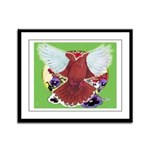 Flight Pigeon and Flowers Framed Panel Print