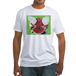 Flight Pigeon and Flowers Fitted T-Shirt