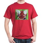 Flight Pigeon and Flowers Dark T-Shirt