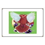Flight Pigeon and Flowers Banner