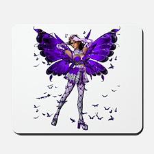 Butterfly Kisses Tanzanite Mousepad