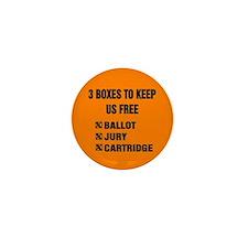 3 BOXES TO KEEP US FREE! Mini Button