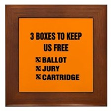 3 BOXES TO KEEP US FREE! Framed Tile